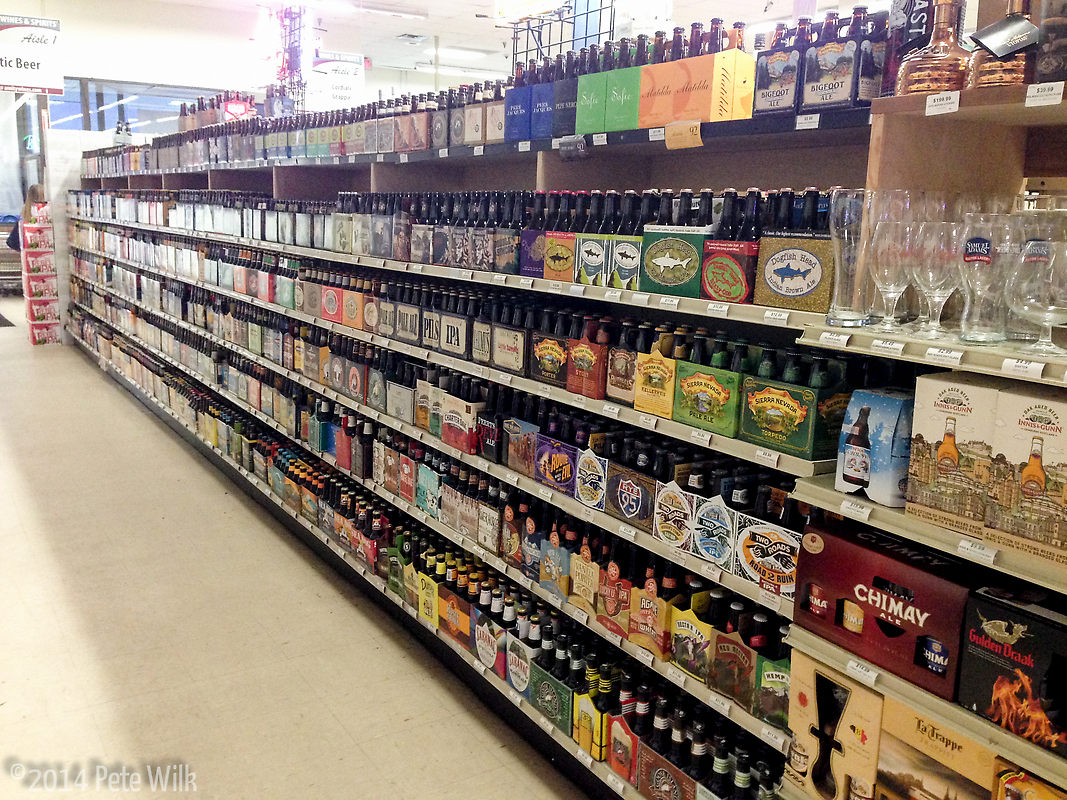 I was very spoiled living only a couple miles from this sort of beer selection.  Here are just the domestic options.