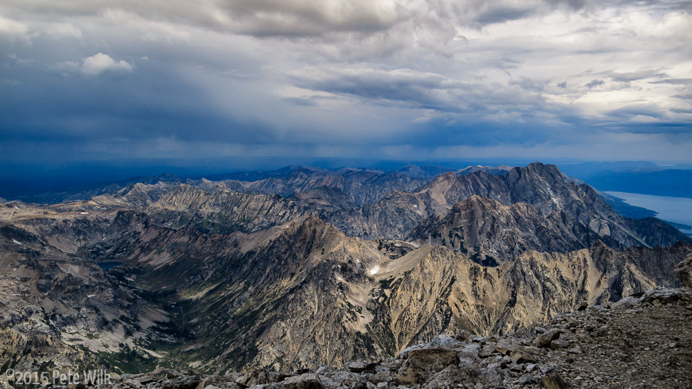 Alpine views all around.  Weather held out for us and didn't rain for real until we were at the Moraines.