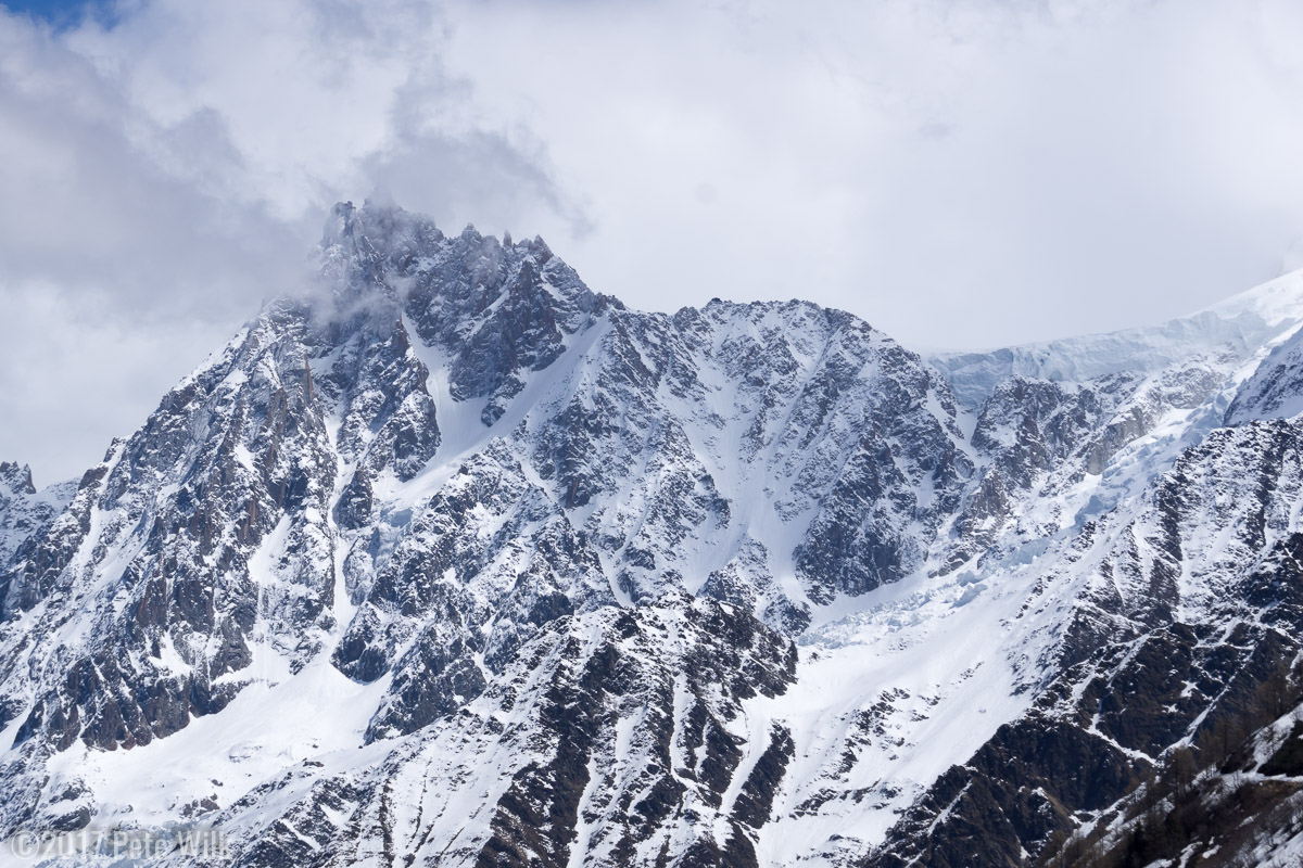 The amazing relief and shape of the Aiguilles.