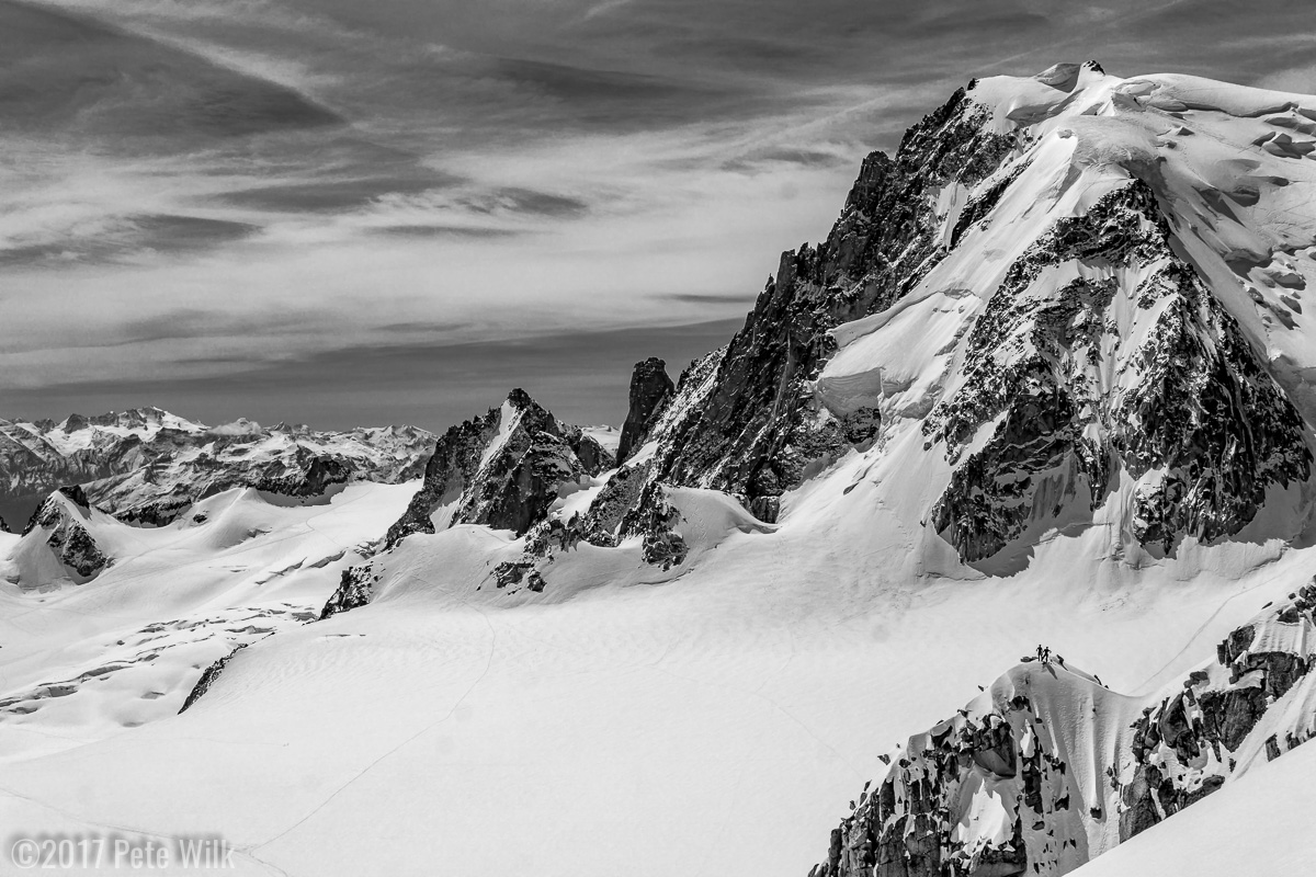 Tiny climbers in an alpine playground.