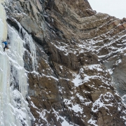 Awesome setting for an ice climb.