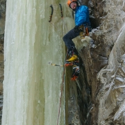 Awesome rest on the route. It was a blob of ice with the shape that you could stradle it.