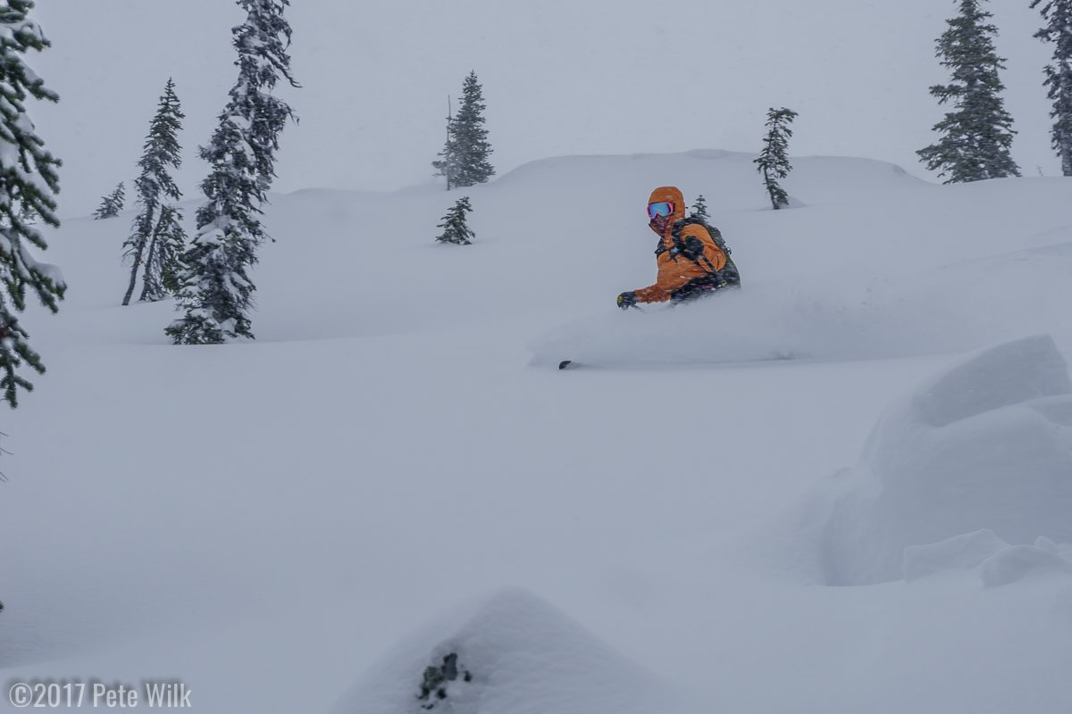 While never over the head blower powder, it was soft and allowed for great bouncy turns.
