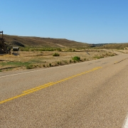 Fabulous road in the middle of nowhere.  Too bad the scenery was marred by the oil extraction.