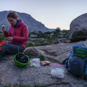 Breakfast before our Wolf\'s Head climb.