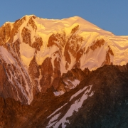 Mont Blanc at sunrise.