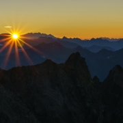 The sunrising over Italy and parts of Switzerland.