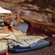 Dana working the opening moves of this V3, which I thought to be much harder than that.