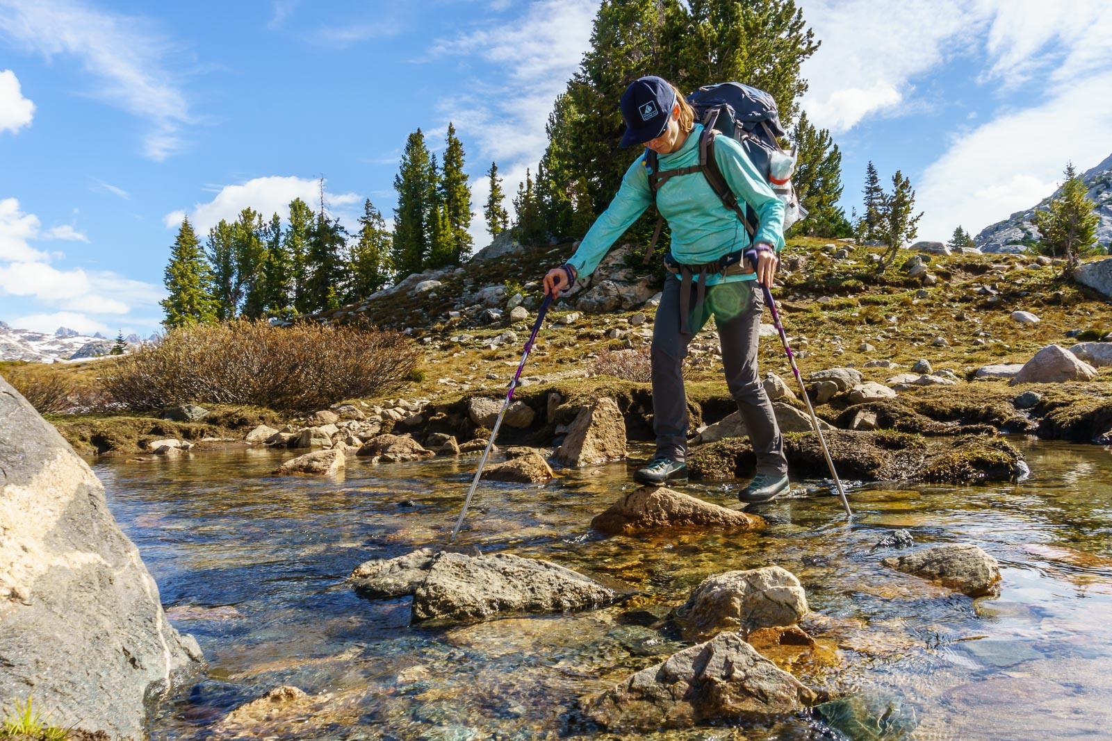 One of many stream crossings.