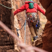 We anticipated rapping off another route from the bivy ledge, but it didn't prove to look appealing.
