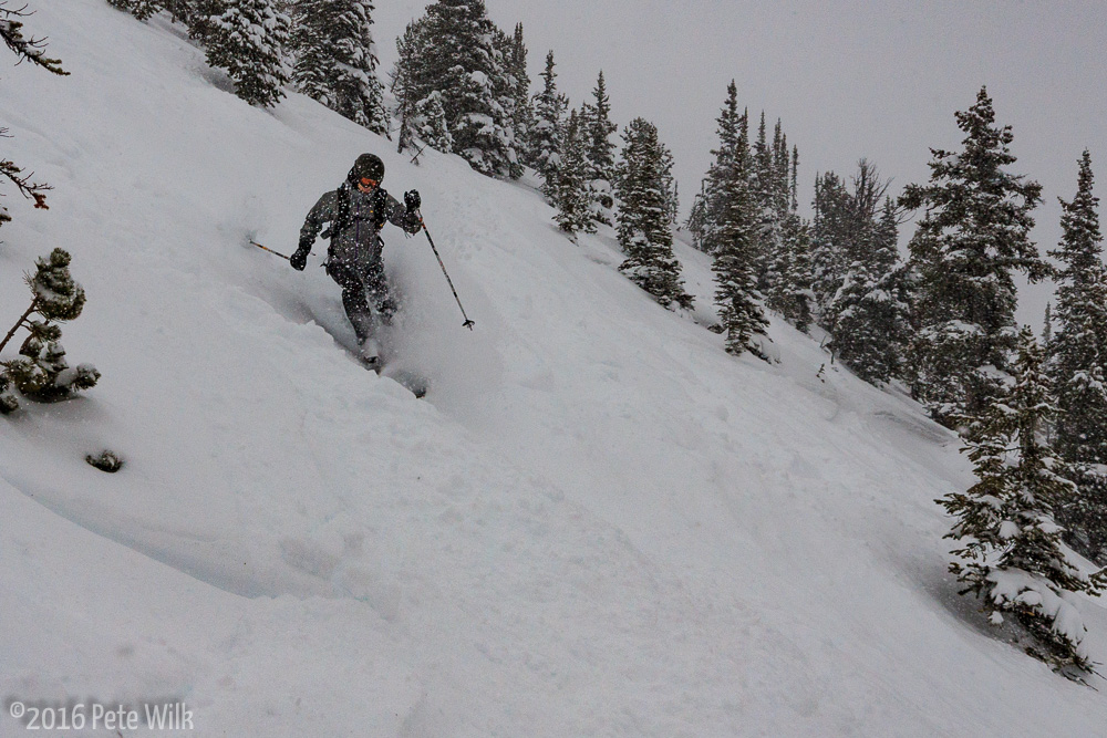 While we never had a fully untracked run we did have plenty of fresh shots.