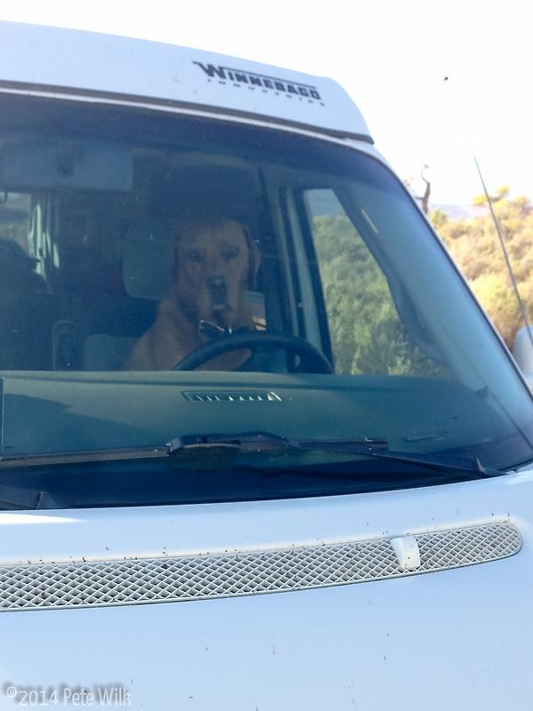Rumple stealing KP's van.