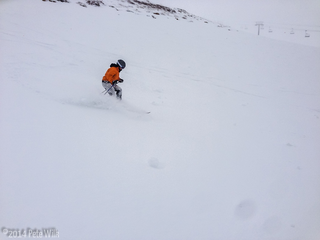 Carly enjoying some late spring dumping at Snowbird.