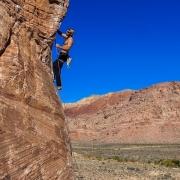 Sunny sport cragging