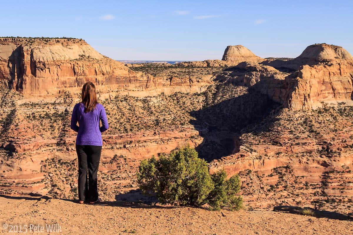 "Enjoying the ""Little Grand Canyon"" view."