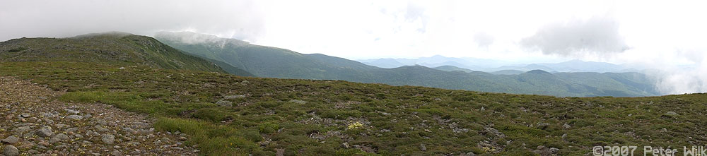 Panoramic just below the summit of Mt. Monroe.