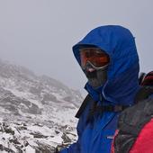 Mark Sondeen below the summit of Mt. Jefferson.
