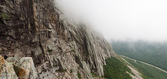 Almost in the clouds on Cannon Mtn.