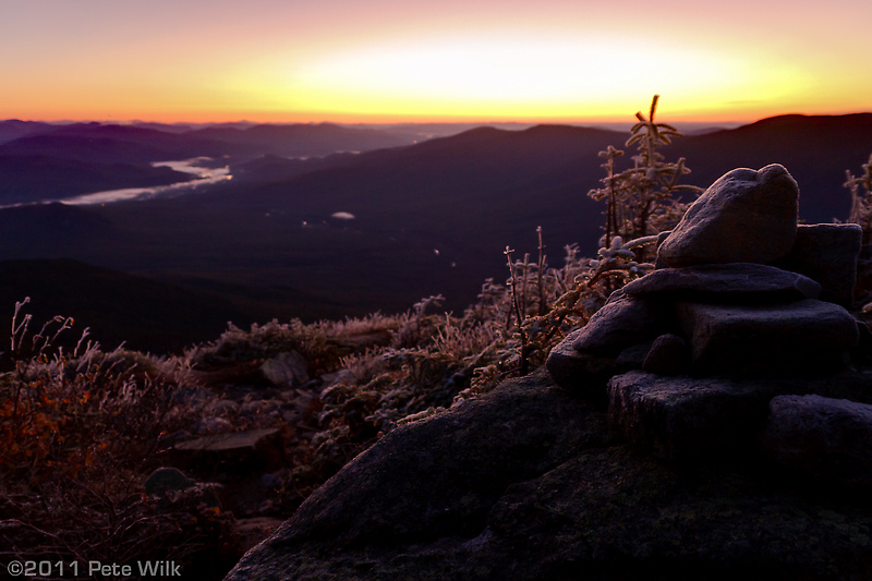 After a couple of hours in the dark with headlamps we were greeted just below the summit of Mt. Madison with a beautiful sunrise.
