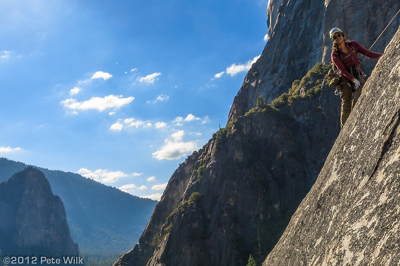 Fellow AAC climber, Naz on After Six (5.7)