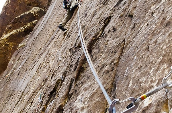 Will-leading-out-off-the-belay-on-Rock-Warrior-5.10b.-All-of-the-pitches-were-like-this