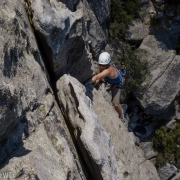 Jamming the top section of a second lead.