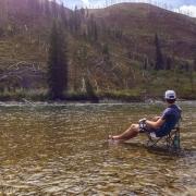 Patrick enjoying the Snake River.