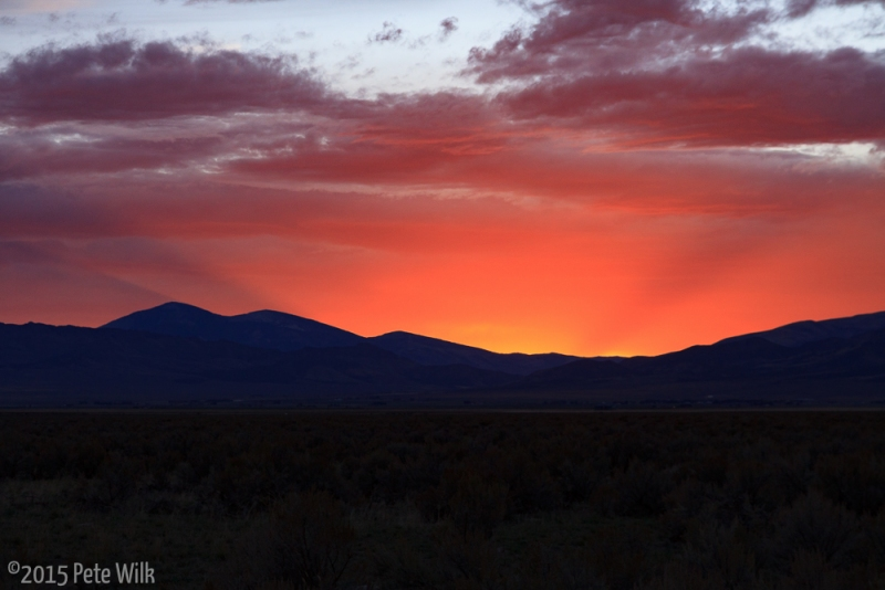 On the ride home from a great weekend in the City of Rocks we had one of the best sunsets I've seen in a long time.