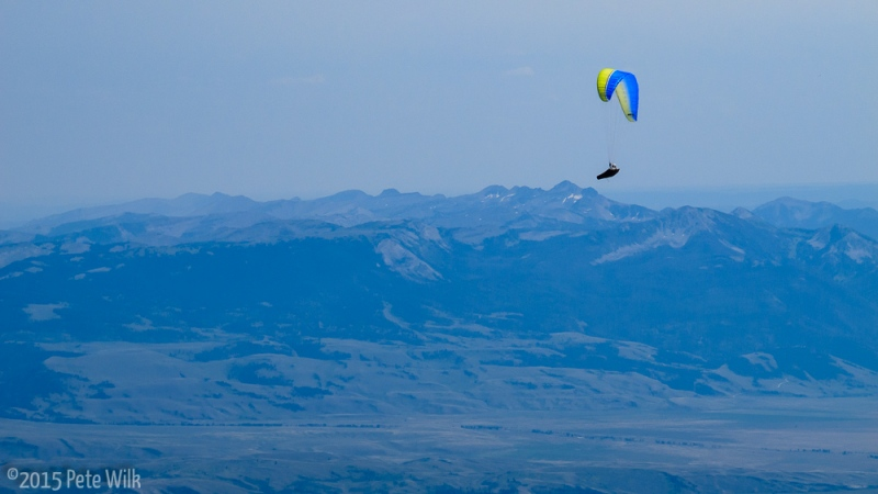 We saw a couple paragliders while we were on the summit.