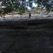 Rapping down after our first day at the Gunks.  Damn this place is good.