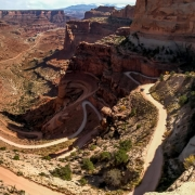 View down the Shafer Trail road.  I\'m looking forward to doing this on the motorcycle.