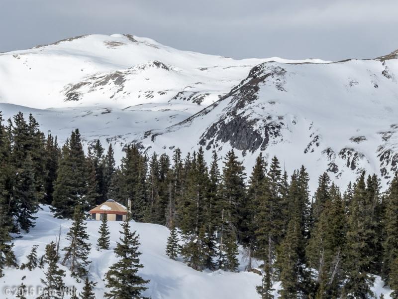 Yurt in Red Mountain Pass, Colorado.