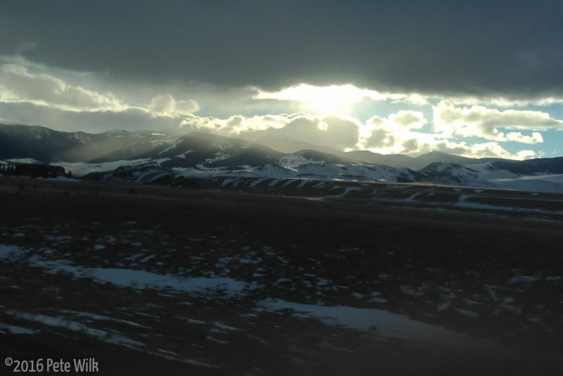 Great clouds and light as Matt and a I headed back to SLC.