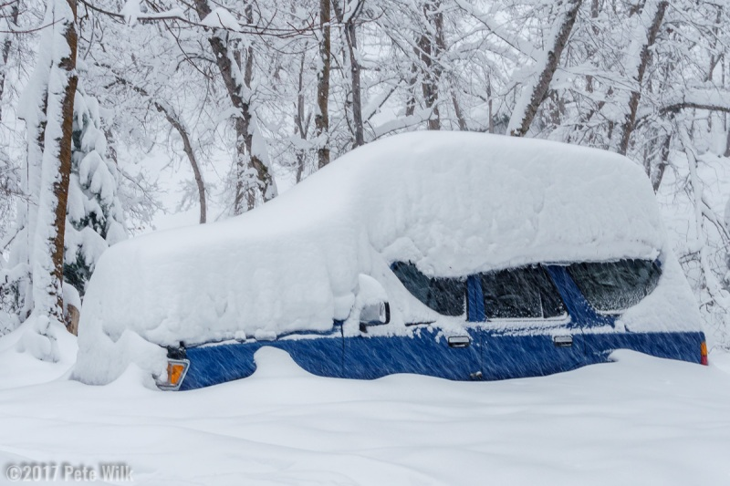 Yeah this truck won\'t be getting out until spring.