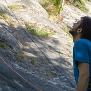 Giovanni with the attentive belay.