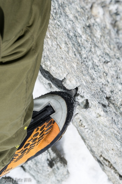Not the first pair of crampons on this hold apparently.