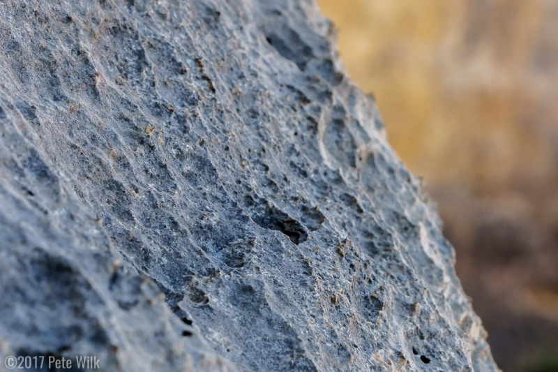 Close up of some of the sharp limestone.