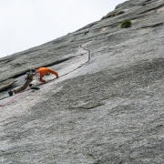 The second day of climbing at Sergeant.  This is the super classic 1 pitch line.  Most of the routes are crack climbing and this was pretty great climbing.