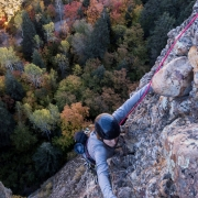 Another multipitch classic in Maple Canyon, Grecian Highway (5.9).