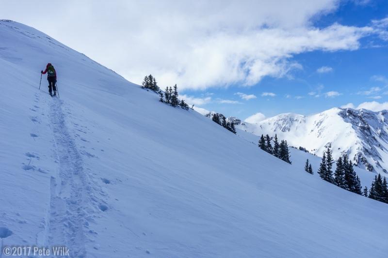 We broke trail the whole way to Pre-Laurel Peak.