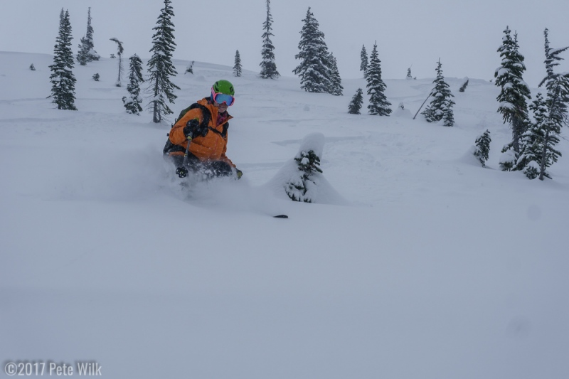 """One of the first of many, many runs on this area, dubbed """"The First Moraine"""""""