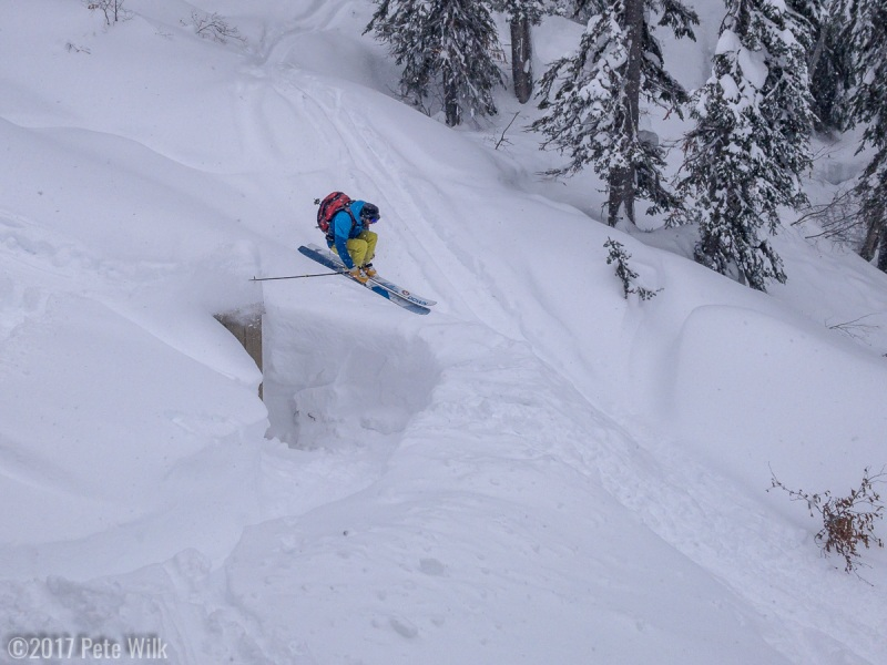 Alexi doing the jump off one of the outhouses.