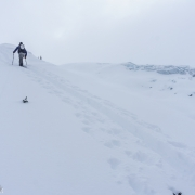 On one of the days we had reasonable visibility to get about level with the glacier.