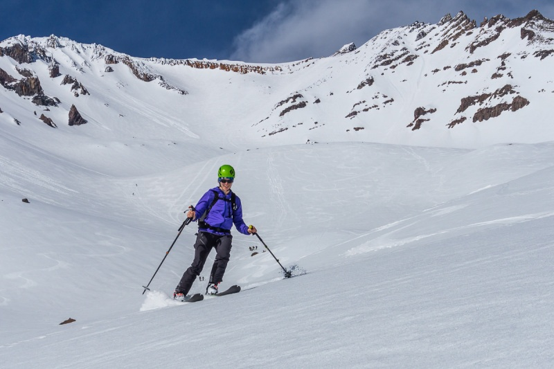 There\'s the smiles.  4000\' of perfect corn skiing will make you forget about the horrible ice at the top.