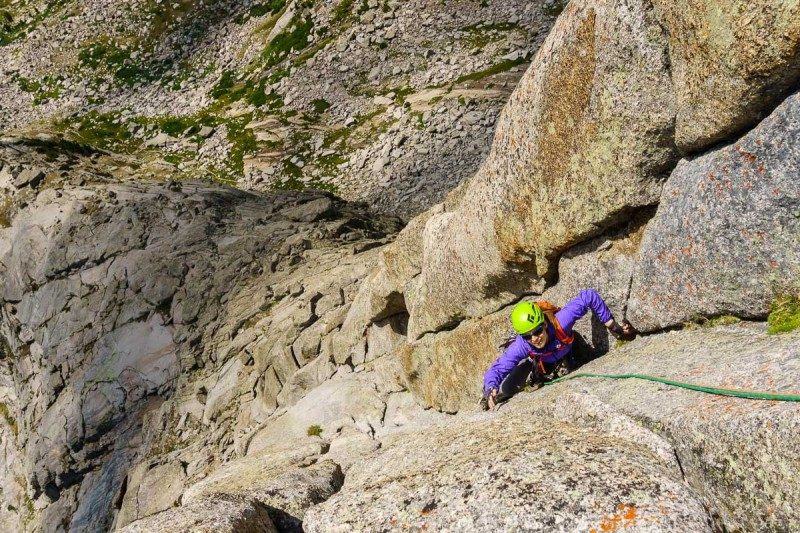 One of the long pitches on the South Buttress.