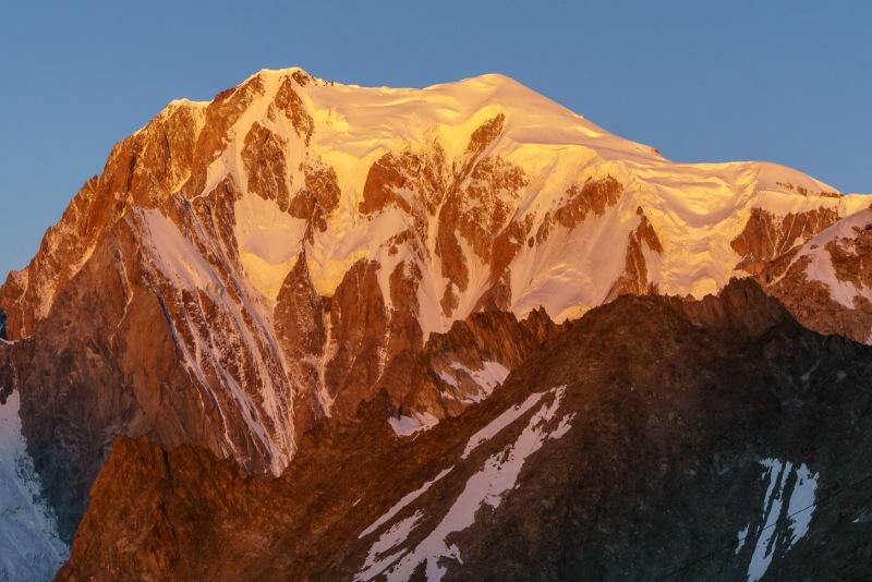 Mont Blanc at sunrise.