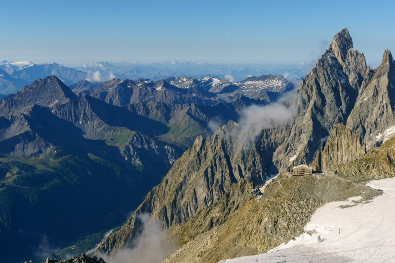 Looking out towards Italy and Grand Paradiso where we went last year.