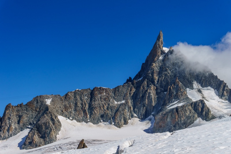 Another angle of the Dent du Geant.