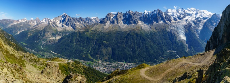 While the climbing on the Aiguille Rouge side isn't quite as good as the big mountains, it has quite a view to make up for it.