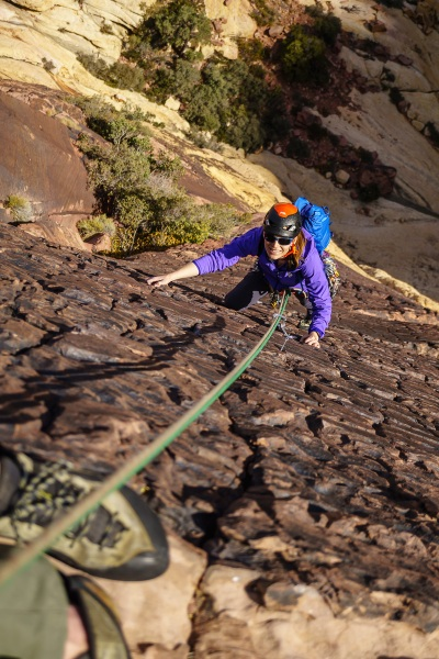 The alpine route we did in Juniper Canyon, called Armatron (5.9), had some amazing rock that looked like brickwork.